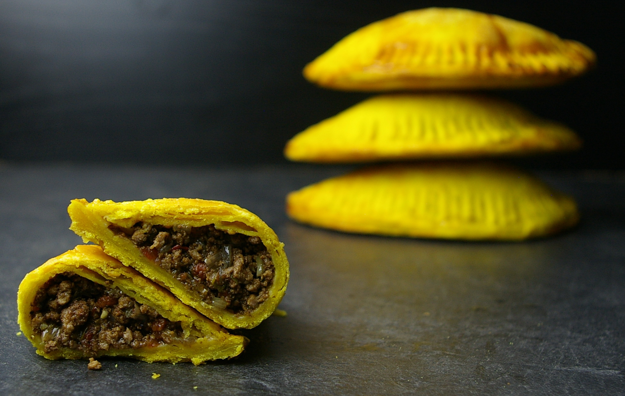 Jamaican Beef Patties | Ginger Smoothy and Otto Pilot